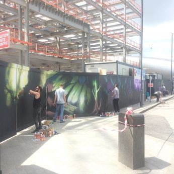 Painting in Slough at the porter building