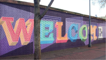 Image Credit: Nathan Evans' 'Hello & Welcome To Leeds' mural.