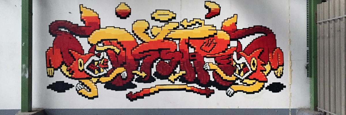 Dxtr Talks Music Books And Pixel Art Global Street Art