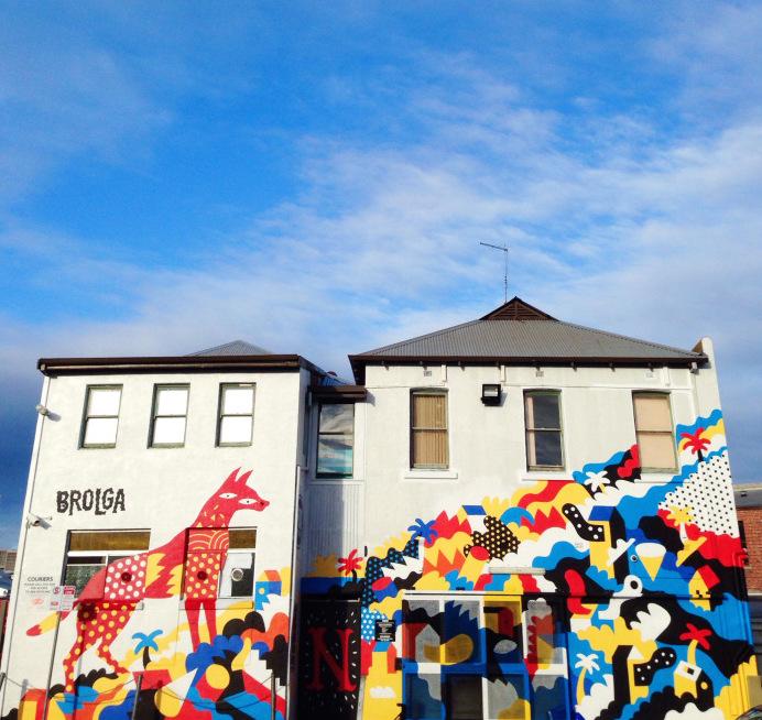 brolga street art