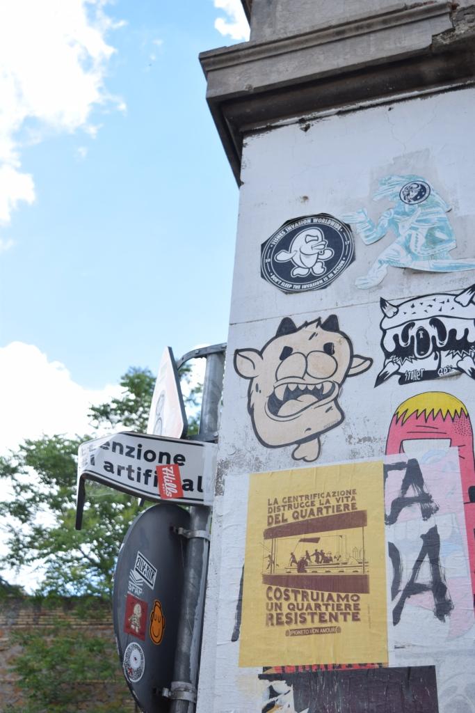 street art rome paste ups