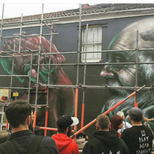 street art upfest 2017 nomad clan