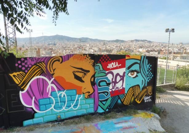 street art bust barcelona