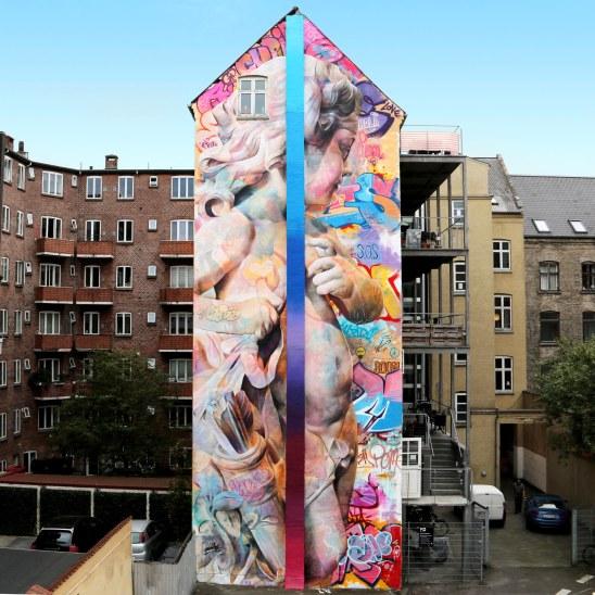 PichiAvo's street art mural in Aalborg, Denmark (2016)