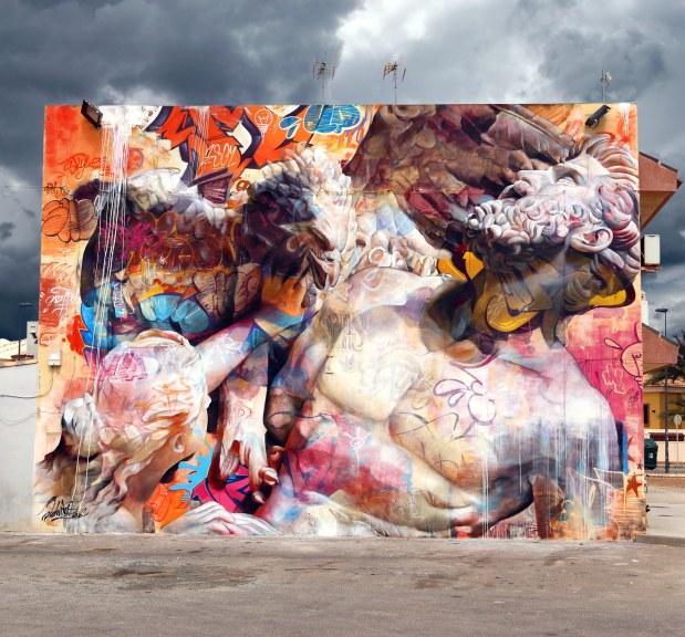 PichiAvo mural in Murcia, Spain (2016) street art