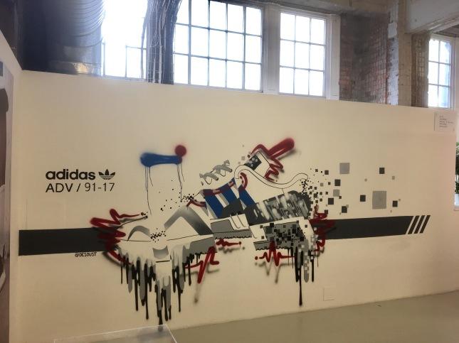 street art adidas oust