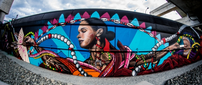 street art underground at ink block collab Marka_27 Donrimx & Problak