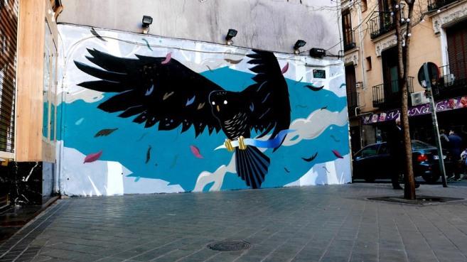 street art sabek bird