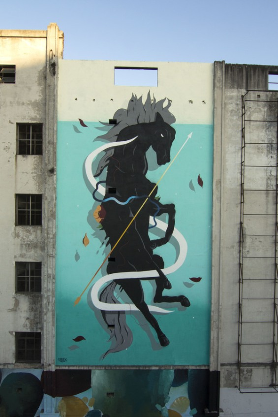 street art sabek Caballo chucaro