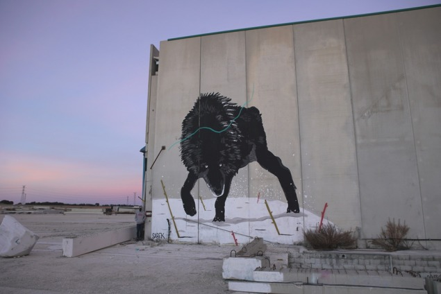 street art sabek wolf