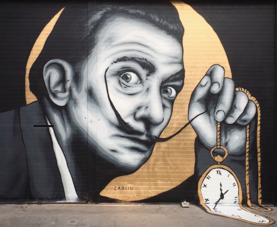 Zabou street art 04 Salvador Dali in London-UK