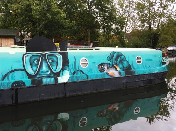 Zabou street art 16 All Aboard! in London-UK