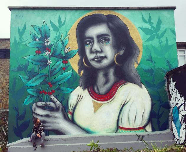 Zabou street art 19 La Chapolera in Armenia-Colombia