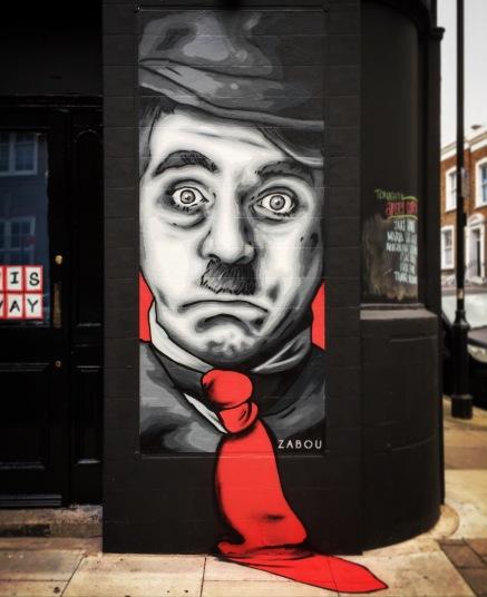 Zabou street art 20 Charlie Chaplin in London-UK