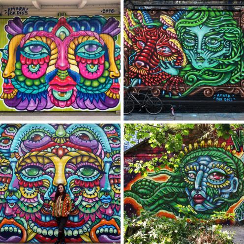 female street artists international womens day amara por dios